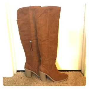 Shoes - Knee high suede heeled boots